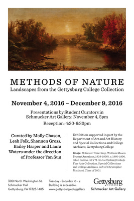 Exhibition 2016 Methods Of Nature Landscapes From The Gettysburg College Collection