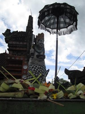Offerings at the Betara lingsir Temple
