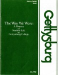 The Way We Were: A History of Student Life at Gettysburg College 1832-1982