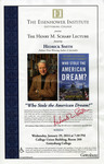 The Henry M. Scharf Lecture: Who Stole the American Dream?