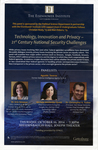 Technology, Innovation and Privacy - 21st Century National Security Challenges