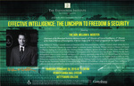 Effective Intelligence: The Linchpin to Freedom & Security by Hon. William H. Webster
