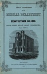 MS-137: Medical Department of Pennsylvania College at Philadelphia Collection by Karen Dupell Drickamer