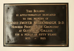 Breidenbaugh Hall Dedication Plaque