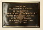 Breidenbaugh Hall Dedication Plaque