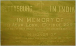 """Gettysburg in India"" Plaque in Christ Chapel"