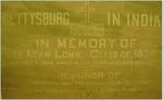 """""""Gettysburg in India"""" Plaque in Christ Chapel"""
