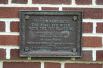 Ivy Week Plaque on Schmucker Hall