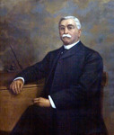 Portrait of Philip H. Glatfelter in Glatfelter Hall by Rachel L. Burg