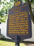 Daniel Alexander Payne Historical Marker