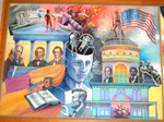 """""""Passages"""" Mural on College Union Building by Elizabeth A. Ryan"""