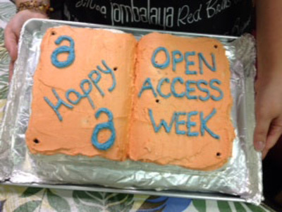 Open Access Week Cake
