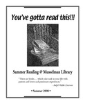 You've Gotta Read This: Summer Reading at Musselman Library (2008) by Musselman Library